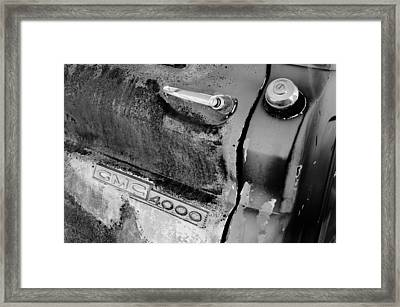 Gmc 4000 V6 Pickup Truck Side Emblem - Door Handle Framed Print by Jill Reger