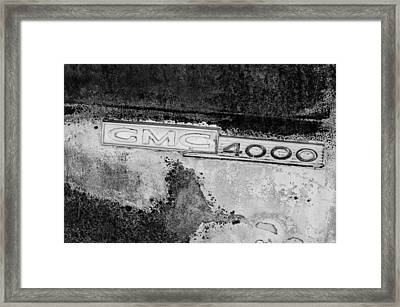 Gmc 4000 V6 Pickup Truck Side Emblem Framed Print by Jill Reger