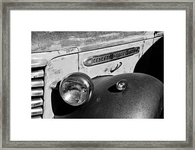 Gmc Truck Side Emblem Framed Print by Jill Reger