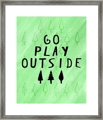 Go Play Outside Framed Print by Amy Cummings