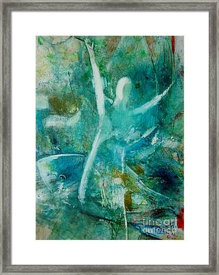 Go With The Flow Framed Print by Deborah Nell