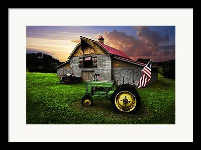 Hay Bale Framed Prints