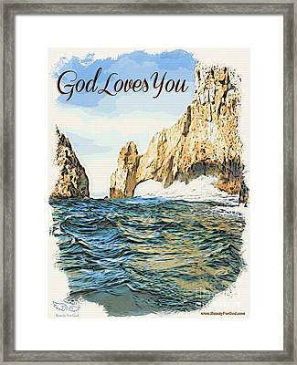 God Loves You Framed Print