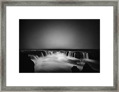 Framed Print featuring the photograph Godafoss by Frodi Brinks