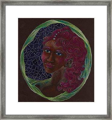 Goddess In The Window To The Sky Framed Print
