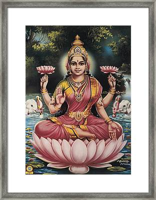 Goddess Srhi Sentamarai Laximi, Wife Framed Print by Everett