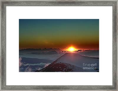 Going Down Framed Print by Karl Voss