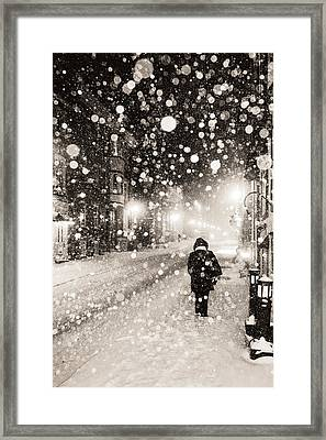 Framed Print featuring the photograph Going Home by Arkady Kunysz