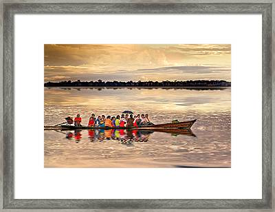 Colorful Passage Framed Print