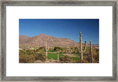 Gold Canyon Arizona Golf Framed Print by Michael J Bauer
