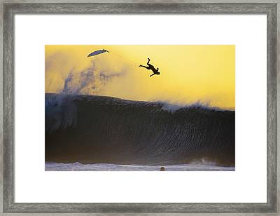 Gold Leap Framed Print by Sean Davey