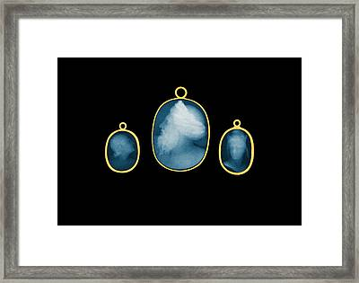 Gold-mounted Cameos, X-ray, 1896 Framed Print by Science Source