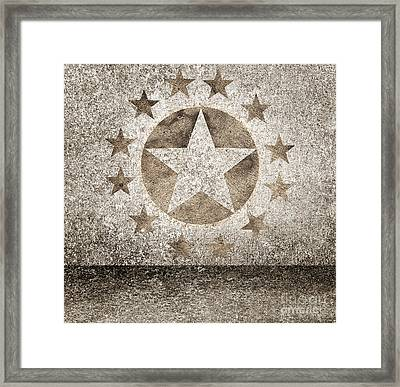 Gold Star Hollywood Event Background. Walk Of Fame Framed Print by Jorgo Photography - Wall Art Gallery