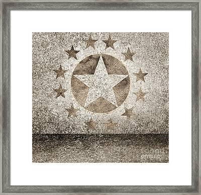 Gold Star Hollywood Event Background. Walk Of Fame Framed Print