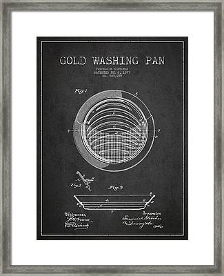 Gold Washing Pan Patent Drawing From 1897 Framed Print
