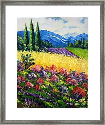 Golden Farm Framed Print by Shirwan Ahmed
