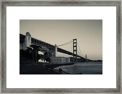 Golden Gate Bridge From Fort Point Framed Print by Panoramic Images
