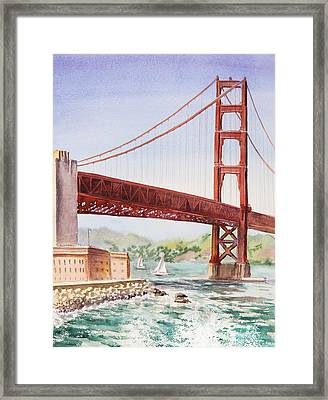 Golden Gate Bridge San Francisco Framed Print by Irina Sztukowski