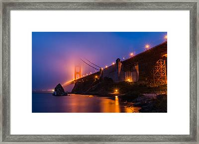 Golden Gate Framed Print by Mike Ronnebeck
