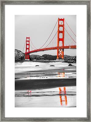 Golden Gate - San Francisco - California - Usa Framed Print by Luciano Mortula