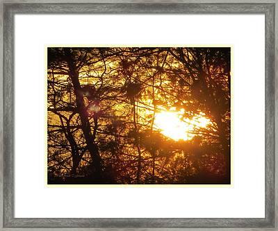 Golden Light Effect Framed Print