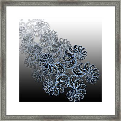 Golden Number Framed Print by Soumya Bouchachi