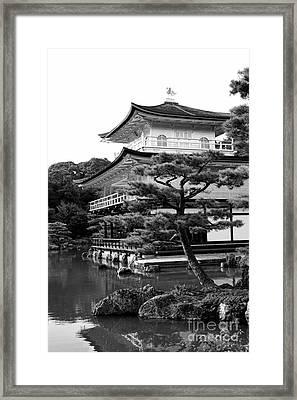 Golden Pagoda In Kyoto Japan Framed Print by David Smith