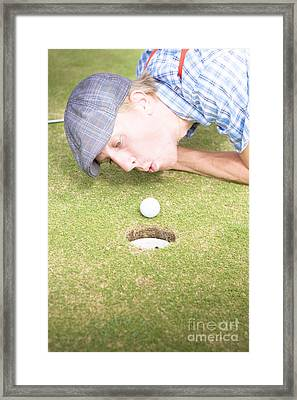 Golf Cheating Framed Print by Jorgo Photography - Wall Art Gallery
