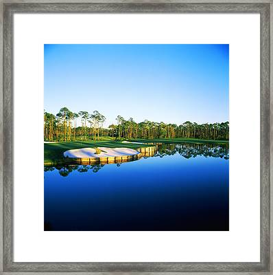 Golf Course At The Lakeside, Regatta Framed Print by Panoramic Images