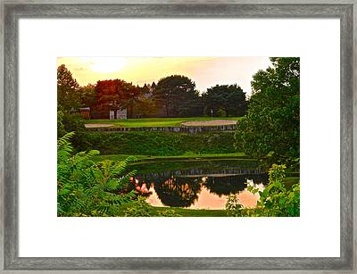 Golf Course Beauty Framed Print by Frozen in Time Fine Art Photography
