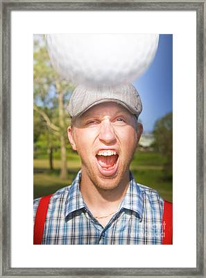 Golf Four And Out Cold Framed Print by Jorgo Photography - Wall Art Gallery