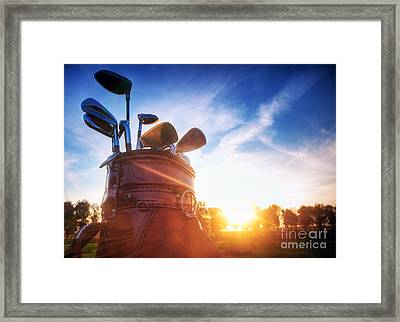 Golf Gear Framed Print by Michal Bednarek