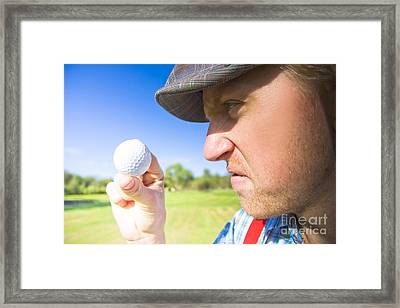 Golf Mid Game Crisis Framed Print