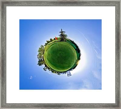 Golf Framed Print by Niels Nielsen