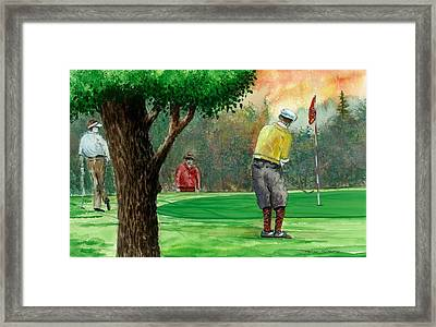 Golf Outing Framed Print by Steven Schultz