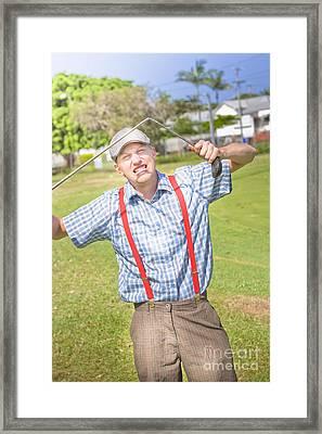 Golf Temper Tantrum Framed Print
