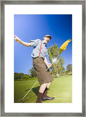 Golf Victory Dance Framed Print by Jorgo Photography - Wall Art Gallery