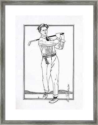 Golfer 1915 Framed Print by Ira Shander