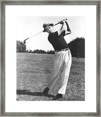 Golfer Sam Snead Framed Print by Underwood Archives