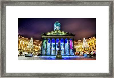 Goma Glasgow Lit Up Framed Print by John Farnan