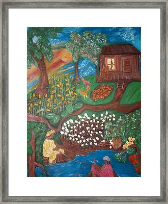 Framed Print featuring the painting Gone Fishing by Mildred Chatman
