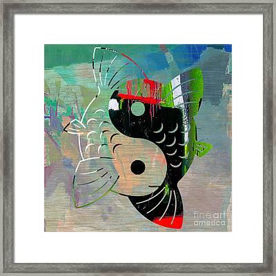 Good Balance Yin Yang Koi Framed Print by Marvin Blaine