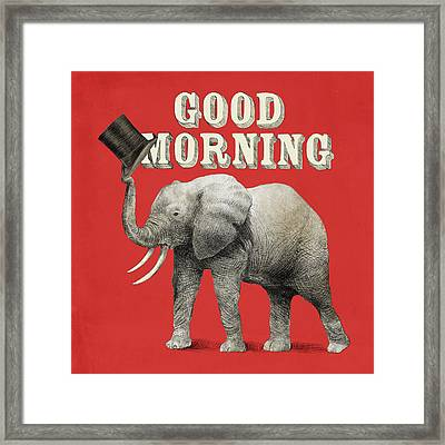 Good Morning Framed Print by Eric Fan