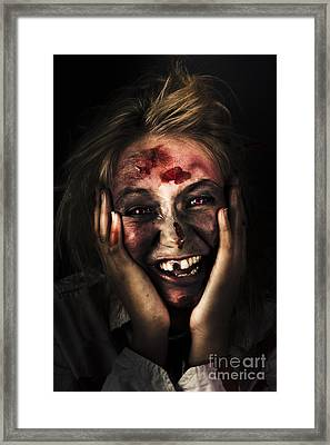 Good Mourning. Face Of A Zombie Apocalypse Framed Print by Jorgo Photography - Wall Art Gallery