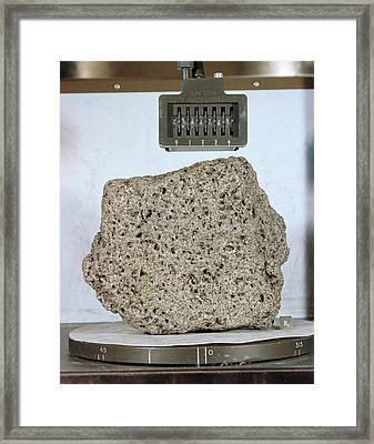 'goodwill' Lunar Rock Sample Framed Print