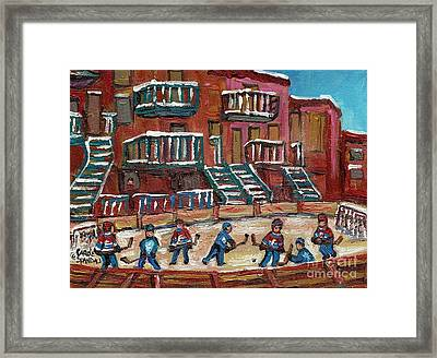 Gorgeous Day For A Game Framed Print by Carole Spandau