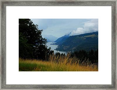 Gorgeous Gorge Framed Print by Mamie Gunning