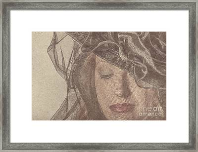 Gorgeous Woman Wearing Make-up Under A Veil Framed Print by Jorgo Photography - Wall Art Gallery