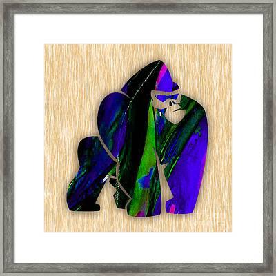 Gorilla  Framed Print by Marvin Blaine