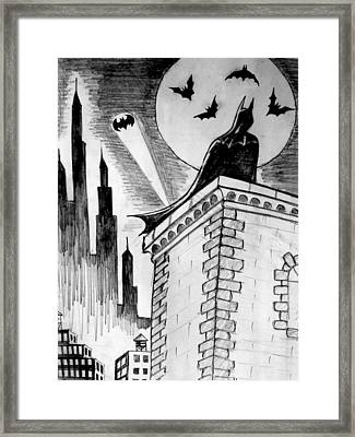 Framed Print featuring the painting Gotham  by Salman Ravish